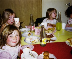 Photo:Jackie Skeggs Birthday party Peabody Wild St with Frances Skeggs & Miray Kester 1970s