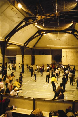 Photo:Skating at Jubilee Hall Sports Centre, c1980s