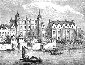 Photo:Salisbury and Worcester houses in 1630 from Haunted London