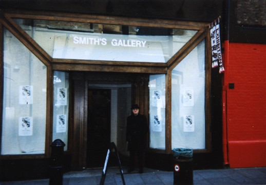 Photo:George Skeggs outside Smith's Galleries 1-2-3