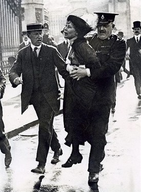 Photo:Emmeline Pankhurst, arrested 22 May 1914
