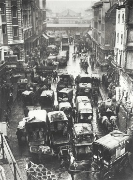 Photo:Traffic congestion Covent Garden c1930