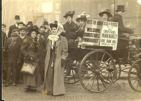 Photo:Christabel Pankhurst in Manchester