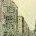 Photo:Watercolor of New Row, Covent Garden.