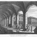 Photo:Print of Coven Garden Piazza by T Sandby. 1777.