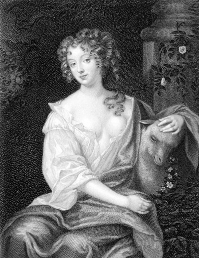 Photo:Nell Gwynn, famous actress and courtesan to King Charles II. Drawing by Peter Levey 17th century