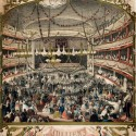 Photo:Lithograph. The Covent Garden Theatre was built by Edward Shepherd in 1732. Jullien's Bal Masques were masquerade balls which took place there in the 1860s. A popular dance. 1865.