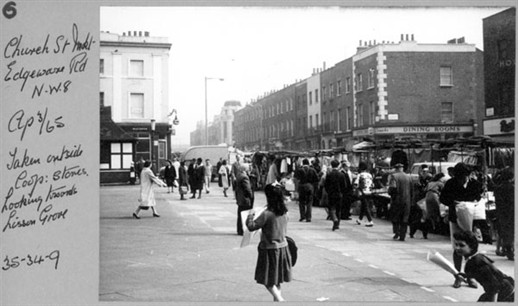 Photo:Photo of Church Street market 1965