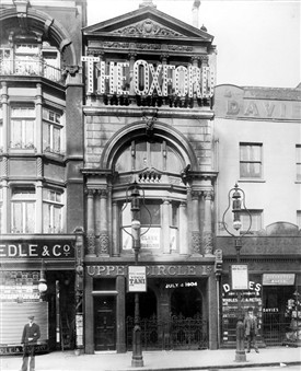 Photo:Photo of Oxford Music Hall, Tottenham Court Road. July 4, 1904.