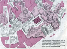 Photo:A view of the proposed redevelopments to Covent Garden - areas marked in red would be affected by the plan.