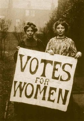 Photo:Annie Kenney and Christabel Pankhurst