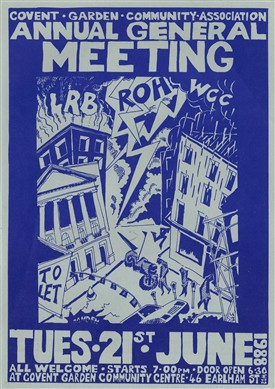 Photo:1988 AGM poster for the Covent Garden Community Association