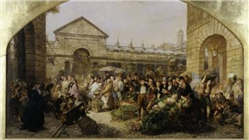 Photo:The hustle and bustle of Covent Garden Market in 1864