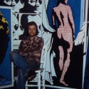 Photo:George Skeggs in studio squat 1974/5