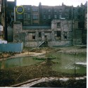 Photo:The circle indicates my studio window overlooking the Japanese water garden under construction 1972/3 now Odhams Walk
