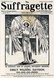 Photo:The Suffragette, a newspaper edited by Christabel Pankhurst, in memory of Emily Davison. Published 13 June 1913