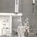 Photo:Two members of the Basement Club in Shelton St 1970s or 80s