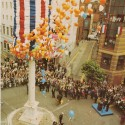 Photo:Seven Dials Pillar Opening 1982 I'm in the crowd somewhere!